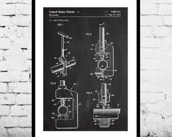 Pipe Cutting Tool Patent Pipe Cutting Tool Poster Mancave Decoration Gift for dad Home Decor Tool Art decor Gifts for him Tools p693