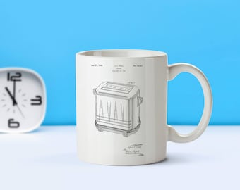 Toaster patent mug  coffee mug  coffee lover  patent art  patent mug  Kitchen Decor Vintage Toaster mug Kitchen CollectibleM16 sp1003