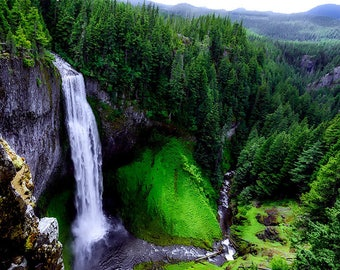 Forest Photography Mountain Photography Nature Landscape Nature Photography Waterfall Home Decor Wall Decor PH090