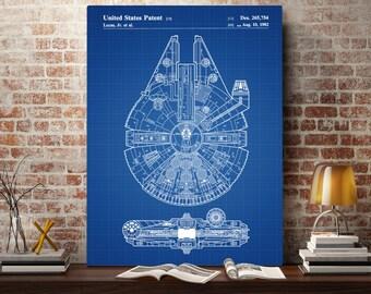 Star Wars Millennium Falcon Star Wars Poster Millennium Falcon Star Wars Patent Millennium Falcon Star Wars Art Millennium Falcon  p933