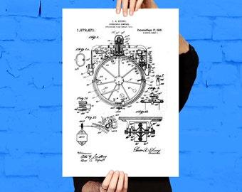 Compass Print Compass Patent Compass Poster Compass Art Compass Wall Art Compass Blueprint Compass Decor p511
