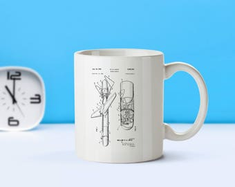 Guided Missle patent mug  coffee mug  coffee lover  patent art  patent mug  Vintage Military Decor Army Gift War CollectiblesM252