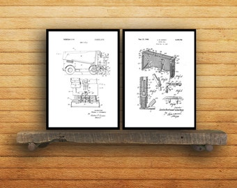Hockey Patents Set of 2 Prints Hockey Prints Hockey Posters Hockey Blueprints Hockey Art Hockey Wall Art Sport Prints Sport Art Sp04