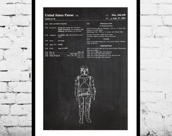 Star Wars Boba Fett Action Figure Toy Patent Print Poster Wall Decor Star wars poster Star wars art p938