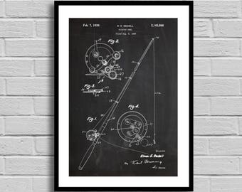 Fishing Reel Patent, Fishing Reel Patent Poster, Fishing Reel Blueprint, Fishing Reel Print, Fishing,Fishing Decor,Sports Decor, p785
