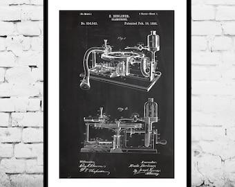 Gramophone Poster Gramophone Patent Gramophone Art Gramophone Print Gramophone Wall Art Gramophone Blueprint Gramophone Decor p590