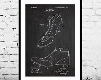 Baseball Shoes Patent, Baseball Shoes Poster, Baseball decor, Baseball Print, Baseball Art, Baseball 423