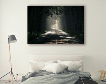 Highway Photography Pine Trees Forest Tree Art Nature Landscape Nature Photography Home Decor Tree Photo Wall Decor highway PH032