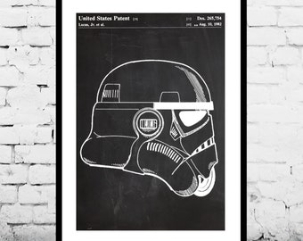 Star Wars Stormtrooper Patent Star Wars Stormtrooper Poster Star Wars Stormtrooper Print Star Wars Stormtrooper Decor Stormtrooper Art p1447