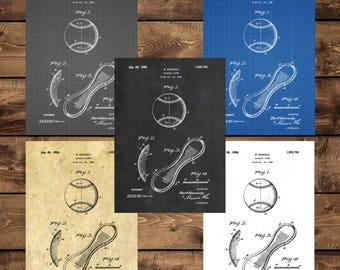 INSTANT DOWNLOAD - Baseball Print, Baseball Art, Baseball Decor, Baseball Wall Art, Baseball Gifts, Sports Decor, Baseball Bat,Patent art