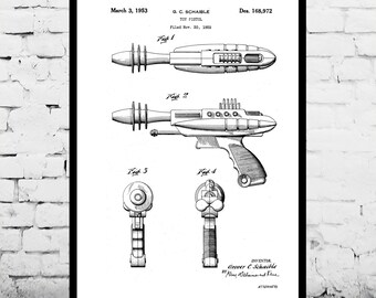Toy Gun Ray Gun Laser Gun Poster Laser Gun Patent Laser Gun Print Laser Gun Decor Ray Gun Laser Gun Art p1292
