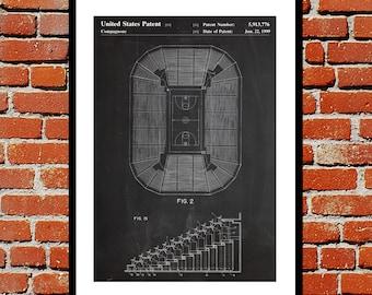 Basketball Court Poster, Basketball Court Print, Basketball Patent, Basketball Gifts, Basketball Goal, Basketball Poster p041