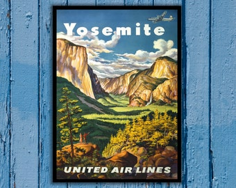National Park Poster - Vintage Prints - Vintage National Park - Yosemite National Park - Yosemite Park 167