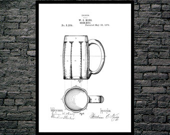 Beer Keg Poster Brewing Beer Patent Brewing Beer Poster Brewing Beer Print Brewing Beer Ale Decor Beer Poster Beer and Ale Decor p1233