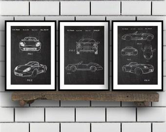 Porsche Patent Set of THREE, Porsche Patent Art - Porsche Art - Porsche Poster - Porsche Wall Art , Porsche, Porsche SP164