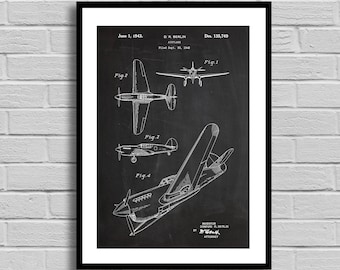 Airplane Patent Airplane Patent Poster Airplane Blueprint Airplane Print Airplane Decor Vintage Airplane Aeronautics Pilot Gift p367