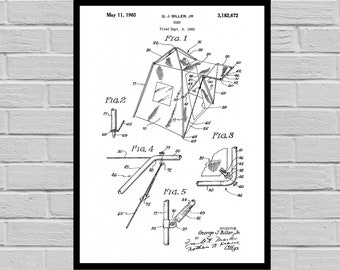 Camping Tent Patent Camping Tent Poster Camping Tent Blueprint  Camping Tent Print Camping Tent Art Camping Tent Decor sp760