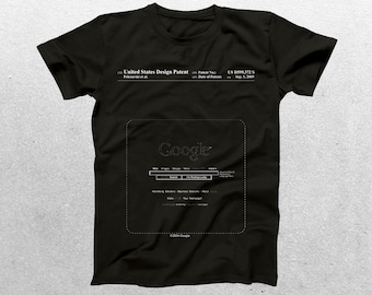 Google Search Patent T-Shirt, Google Search Blueprint, Patent Print T-Shirt, Google Shirt, Web Developer Gift p144