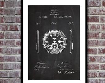 1878 Clock Face Patent Clock Face Poster Clock Face Blueprint  Clock Face Print Clock Face Art Clock Face Decor p025