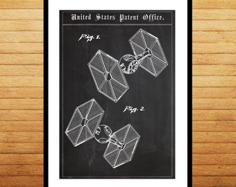 Star Wars Patent Star Wars Tie fighter patent Star Wars Tie fighter Print Star Wars Tie fighter Art Star Wars patent patent art p1409