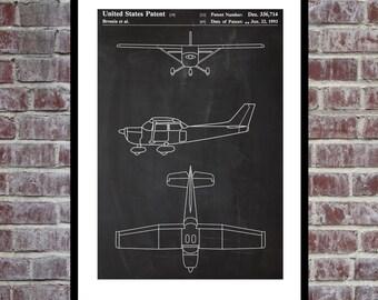 Airplane Patent Cessna 172 Airplane Decor Airplane Art Airplane Print Aviation Decor Airplane Patent Aviation Art Aviation Art Pilot p368
