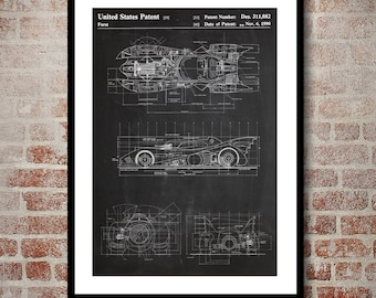 Batman Batmobile Print Batman Batmobile Patent Batman Batmobile Poster Batman Batmobile Art Batman Batmobile Decor Batman Batmobile p908