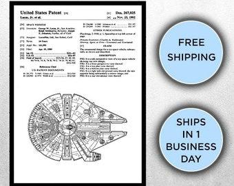 Star Wars Millennium Falcon Star Wars Poster Millennium Falcon Star Wars Patent Millennium Falcon Star Wars Art Millennium Falcon P1438