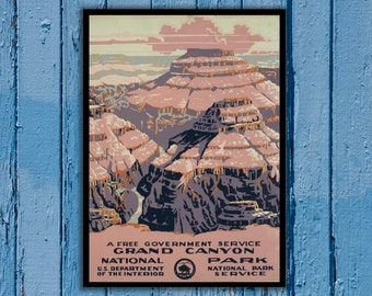 National Park Poster - Vintage Prints - Vintage National Park - Grand Canyon National Park - Grand Canyon 163