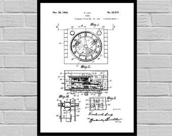 Vintage Watch Patent Watch Invention Patent Wrist watch Poster Watch Print Timepiece Patent Watch Inventions SP132