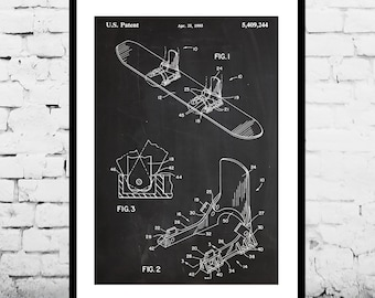 Modern Snowboard Patent, Modern Snowboard Poster, Modern Snowboard Print, Modern Snowboard Art, Modern Snowboard Decor, Snowboard p839