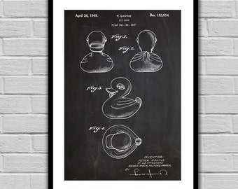 Rubber Duck Patent, Toy Duck Poster, Rubber Duck Blueprint, Rubber Duck Print, Rubber Duck Art, Rubber Duck Decor p1212