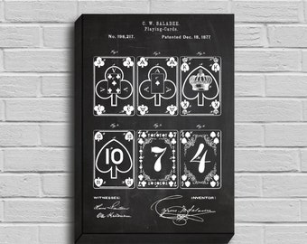 CANVAS  Playing Cards Patent playing Cards Poster Playing Cards Blueprint Playing Cards Print Playing Cards Art p237
