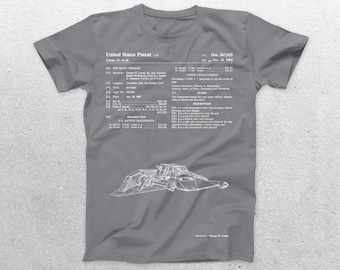 Star Wars A Wing Rebellion Ship Patent T-Shirt, A Wing Blueprint, Star Wars Patent Print T-Shirt, Star Wars T-Shirt, Star Wars Gifts, p941