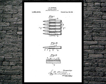 Bullet Cartridge Carrier Patent Bullet Cartridge Carrier Poster Bullet Carrier Print Bullet Decor Gun poster Gun Print Gun Decor p1242