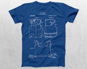Life Preserver Patent T-Shirt, Life Preserver Blueprint, Patent Print T-Shirt, Life Vest Shirt, Nautical p398