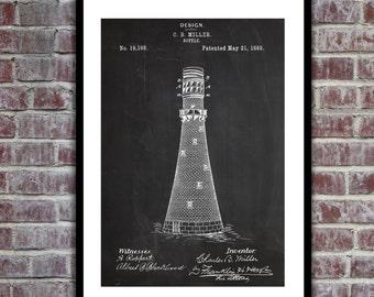 Lighthouse Patent Lighthouse Poster Lighthouse Blueprint Lighthouse Print Lighthouse Art Lighthouse Decor p194