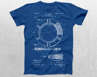 Life Preserving Ring Patent T-Shirt, Life Preserver Blueprint, Patent Print T-Shirt, Life Guard Shirt, Nautical p07