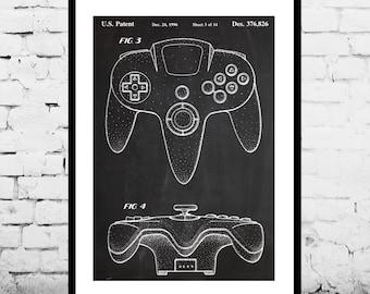 Nintendo 64 Controller Poster, Nintendo 64 Controller Patent, Nintendo 64 Controller Print, Nintendo 64 Controller Decor p351