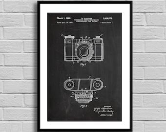 Camera with Interchangeable Lens Patent Camera Poster Camera Blueprint Camera PrintVintage Camera Photographer Gift Photography Decor p690