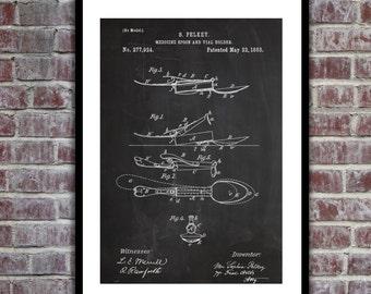 Medicine Spoon Patent Medicine Spoon Poster Medicine Spoon Blueprint Medical Print Medical Wall Art Medical Decor p205