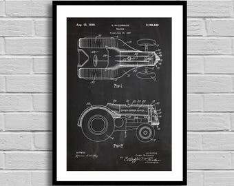 Tractor Patent, Tractor Patent Poster, Tractor Blueprint, Tractor Print, Auto Decor, Farmhouse Decor, Farmer Gift, Vintage, Home decor p1166