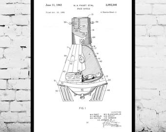 Space Capsule Patent Space Capsule Poster Space Capsule Art Space Capsule Decor Space Capsule Print Space Capsule Blueprint Space p272