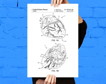 Cardiology Print Heart Patent Heart Poster Heart Decor Heart Decor Cardiology Wall Art Cardiologist Gifts Medical Decor Doctor Gifts p489