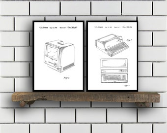 First Macintosh SET of 2 Computer Poster Apple Computer Patent Computer Art Apple Poster Technology Art sp436