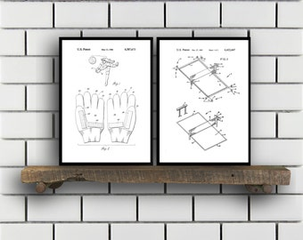 Volleyball Patents Set of 2 Prints Volleyball Prints Volleyball Posters Volleyball Blueprints Volleyball Art Volleyball Wall Art Sp336