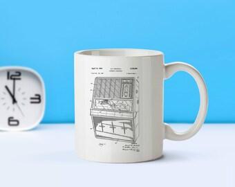 Jukebox patent mug  coffee mug  coffee lover  patent art  patent mug  Automatic Phonograph Music Decor VintageRestaurant DecorM170