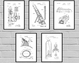 Firefighter Patents prints Firefighter Poster Firefighter Art Firefighter Decor Firefighter Wall Art Gift Firefighter gift sp510