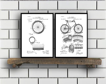 Bicycle Patent Bicycle Set of TWO Bicycle Invention Patent Bicycle Poster Bicycle Print Bicycle Inventions SP251