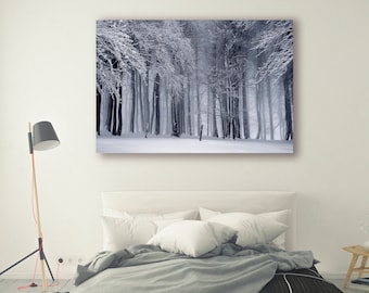 Winter Forest Print Large Wall Art Print Fine Art Photography Print Nature Photography Winter Decor Mountain Art Decor Forest PH027