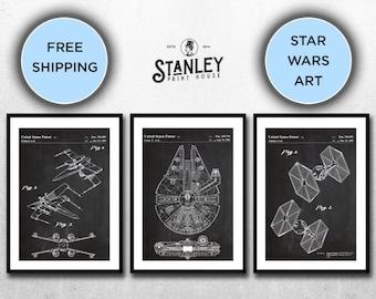 Star Wars set, Millennium Falcon Star Wars Poster, Tie Bomber Star Wars Patent, Millennium Falcon Star Wars Print, Millennium Falcon p536